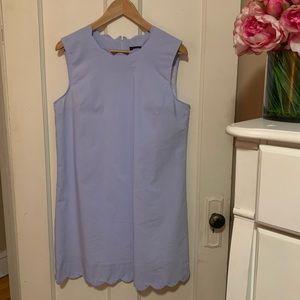 Halogen Scalloped Poplin Dress